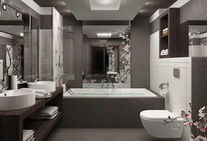 Modernes Badezimmer Grau Fein On Beabsichtigt Zuerst Edgetags 6