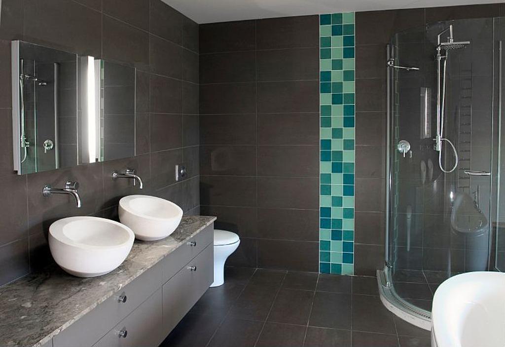 Modernes Badezimmer Grau Großartig On Und Stück 1 Amocasio Com