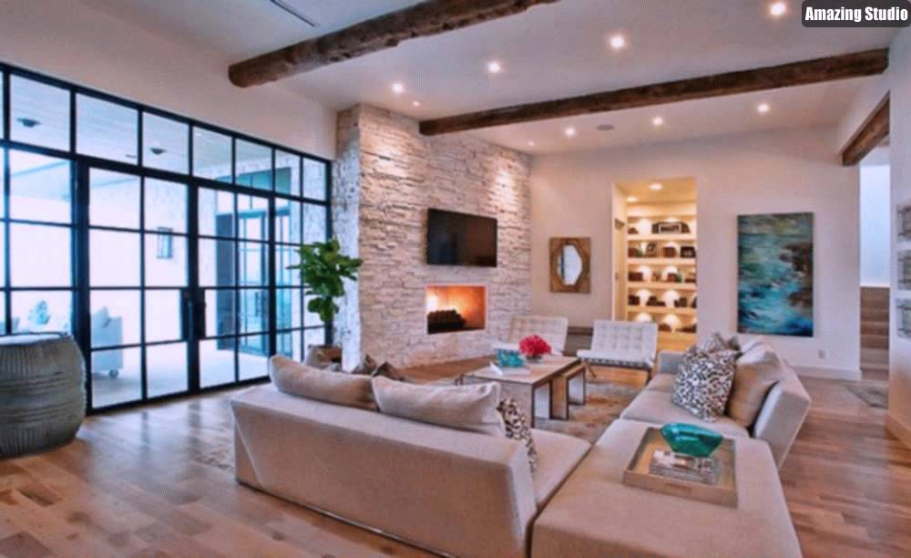 Modernes Wohnzimmer Beige Herrlich On Auf Moderne Sofa Full Size Of Wohndesigncool 8
