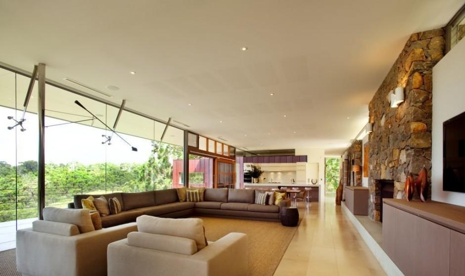 Modernes Wohnzimmer Beige Kreativ On Beabsichtigt Braun Ideen Lachen Wandgestaltung 6
