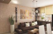 Modernes Wohnzimmer Beige Türkis
