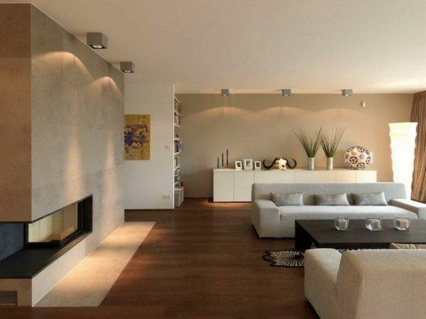 Modernes Wohnzimmer Beige