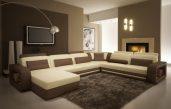 Modernes Wohnzimmer Braun