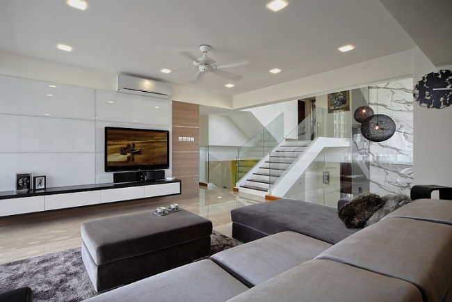Modernes Wohnzimmer Grau Ausgezeichnet On Modern Innerhalb Emejing Moderne In Ideas House Design 3