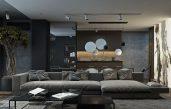 Modernes Wohnzimmer Grau