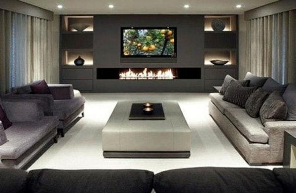 Modernes Wohnzimmer Grau Wunderbar On Modern Auf Das 2