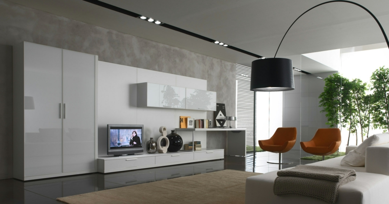Modernes Wohnzimmer Grau Wunderbar On Modern Beabsichtigt Gestalten 81 Wohnideen Bilder Deko Und Möbel 6