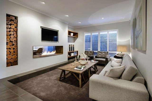 Modernes Wohnzimmer Mit Kamin Bemerkenswert On Modern Innerhalb Ziakia Com Moderne 24 6