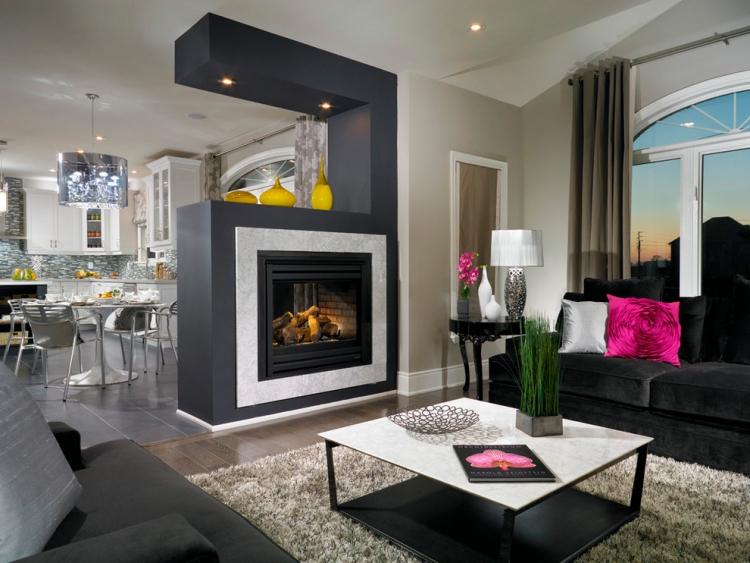 Modernes Wohnzimmer Mit Kamin Exquisit On Modern überall Awesome Moderne Kachelofen Ideas House Design 2