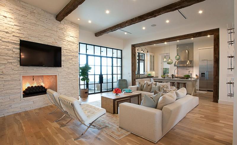 Modernes Wohnzimmer Mit Kamin Glänzend On Modern Für Ausgezeichnet Moderne Design Eklektische 8