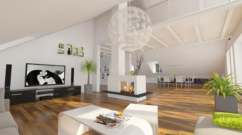 Modernes Wohnzimmer Mit Kamin Imposing On Modern In Bezug Auf Moderne Luxus 10 Amocasio Com 7