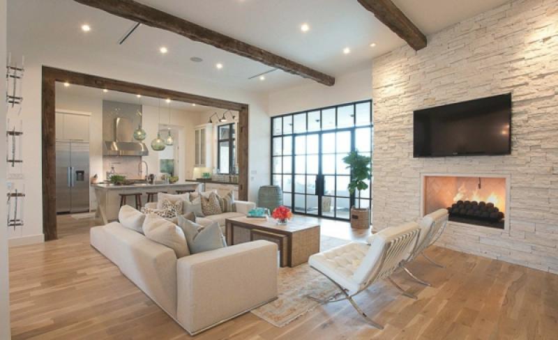 Modernes Wohnzimmer Mit Kamin Modern On In Bezug Auf Bilder Bigschool Info 3