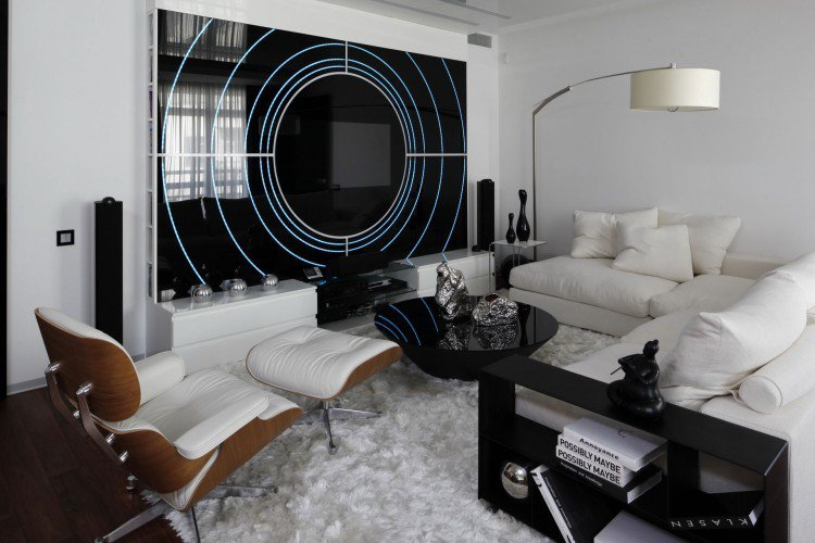 Modernes Wohnzimmer Schwarz Ausgezeichnet On Modern Und Moderne Weiss Amocasio Com 9