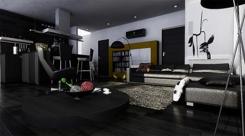 Modernes Wohnzimmer Schwarz Einzigartig On Modern Und Cabiralan Com 2