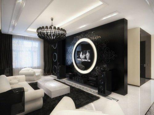 Modernes Wohnzimmer Schwarz