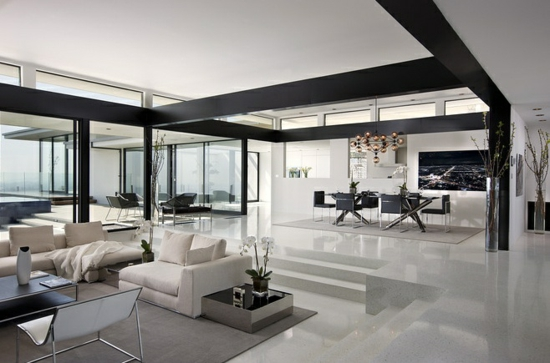 Modernes Wohnzimmer Schwarz Schön On Modern Innerhalb Moderne Weiss Weis 1