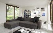 Modernes Wohnzimmer Schwarz Weiß Laminat