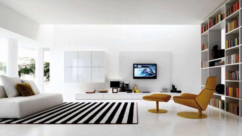 Modernes Wohnzimmer Schwarz Weiß Laminat Modern On Für Weis Einrichtung Wei Malerische Wohnwande 2