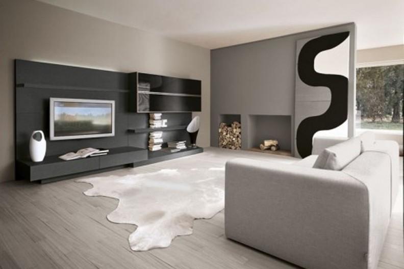 Modernes Wohnzimmer Schwarz Weiß Laminat Nett On Modern Auf Grau Weise Wande Die Besten 25 Einfach Wnde 9