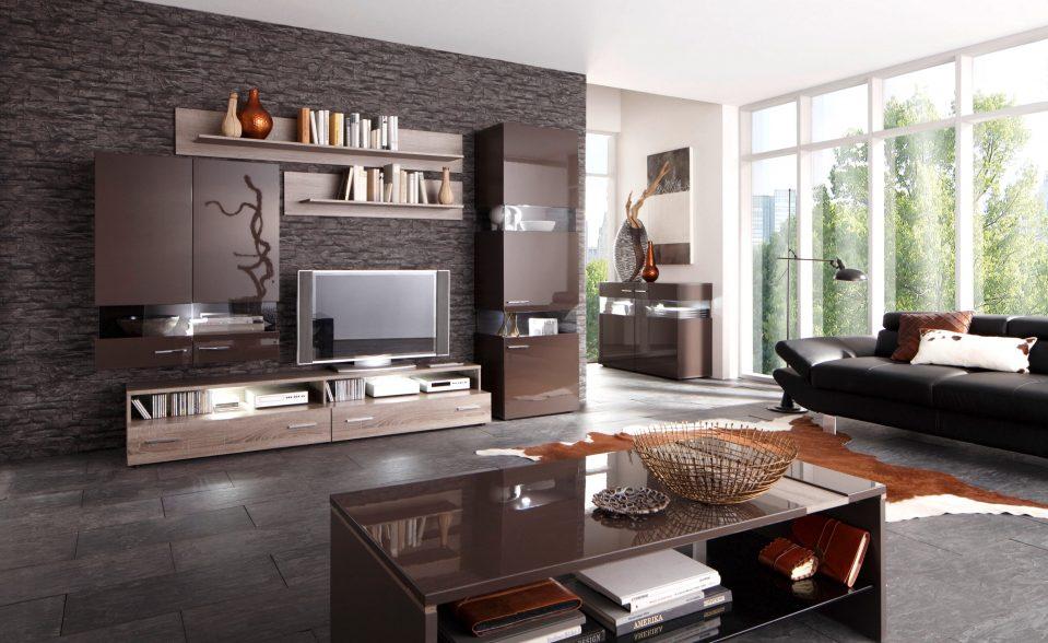 Modernes Wohnzimmer Schwarz Weiß Laminat Perfekt On Modern überall Weiss Govconip Com 6