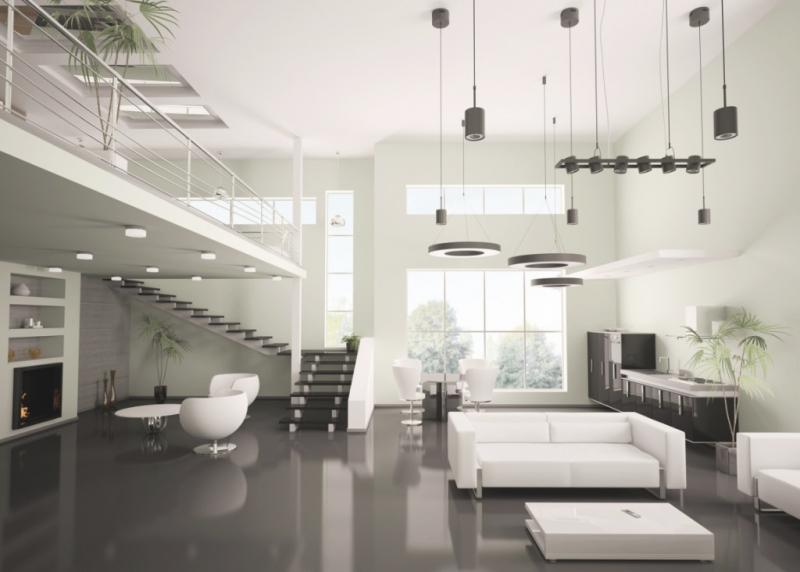 Modernes Wohnzimmer Schwarz Weiß Laminat Schön On Modern Und Weiss Www Sieuthigoi Com 4
