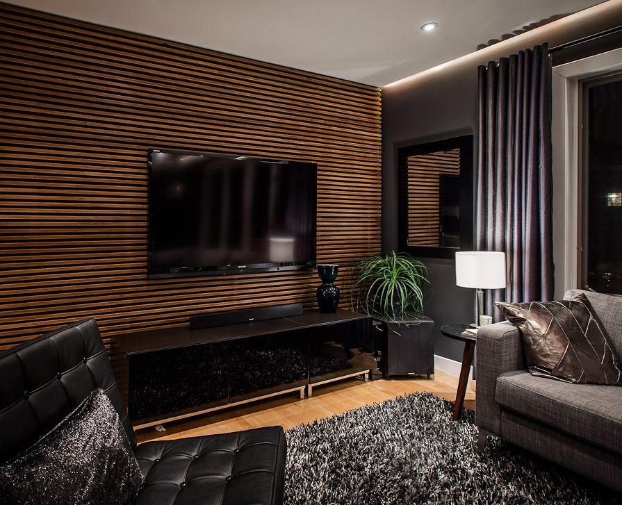 Modernes Wohnzimmer Schwarz Zeitgenössisch On Modern In Bezug Auf Die Besten 25 Tv Wand Ideen Pinterest Holz 7