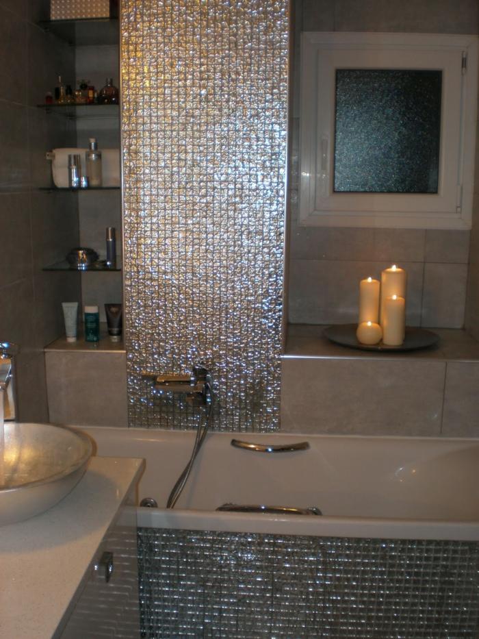 Mosaik Badezimmer Frisch On Auf Elegante Glänzende Fliesen Fürs Bad Romantische Kerzen 4