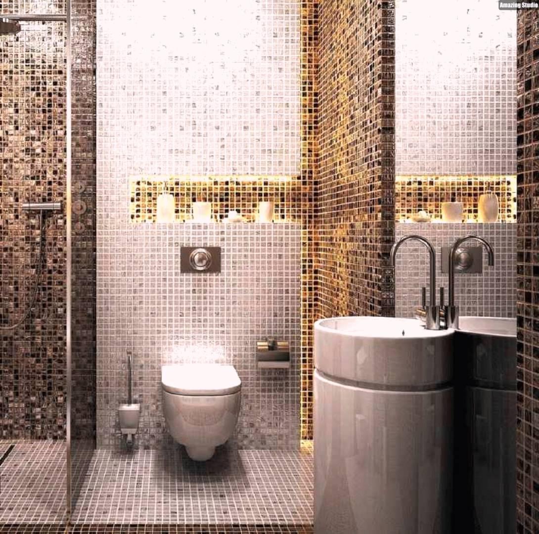 Mosaik Badezimmer Perfekt On überall Fliesen Atemberaubend Bad Braun 2