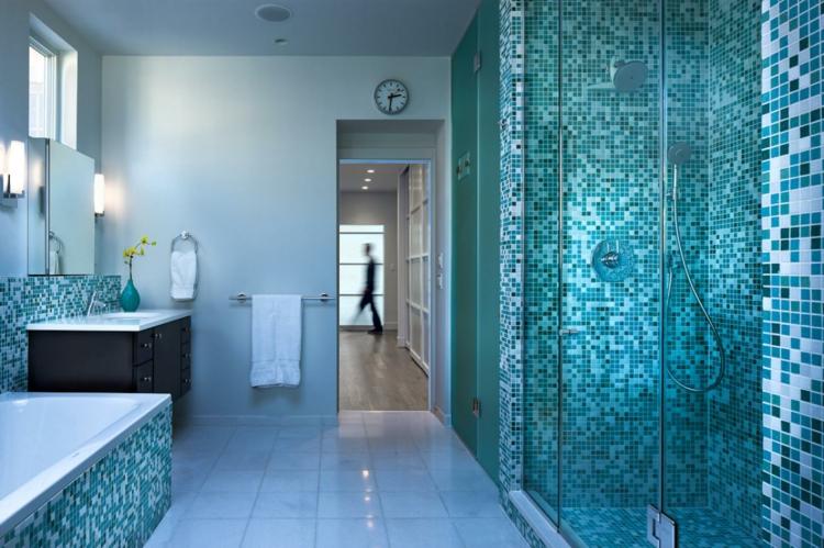Mosaik Badezimmer Stilvoll On In Fliesen Für Bad Ideen Betonung Einzelner Bereiche 9