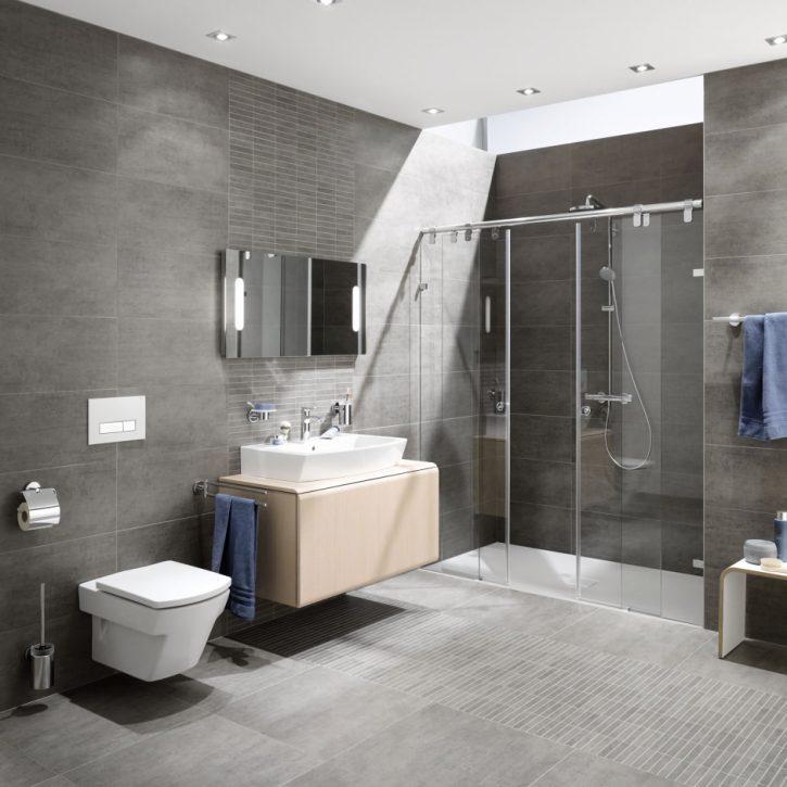 Muster Badezimmer Bescheiden On Beabsichtigt Innenarchitektur Tolles Moderne Bad Bodenbelag 6