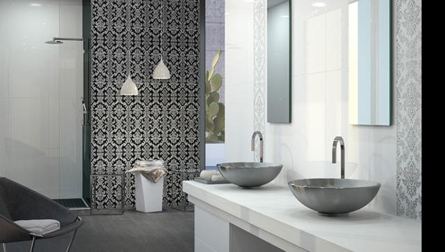 Muster Badezimmer Zeitgenössisch On Und Moderne Fliesen Mit 55 Bilder 4