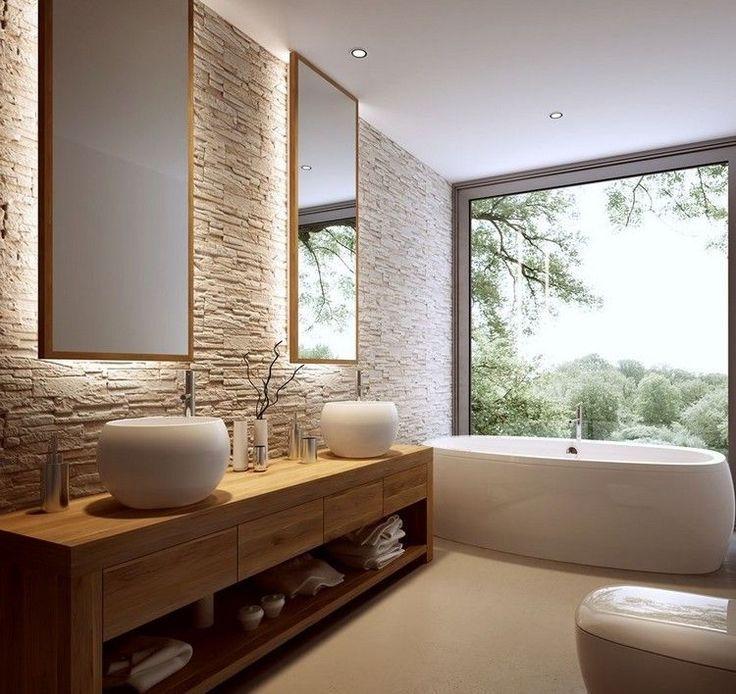Natursteinwand Badezimmer Erstaunlich On Und Die Besten 25 Naturstein Waschbecken Ideen Auf Pinterest 6