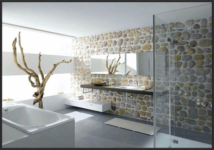 Natursteinwand Badezimmer Fein On In Innenarchitektur Kleines 3