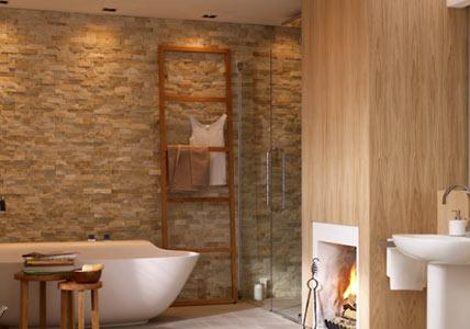 Natursteinwand Badezimmer Wunderbar On Für Bild 11 LIVING AT HOME 4