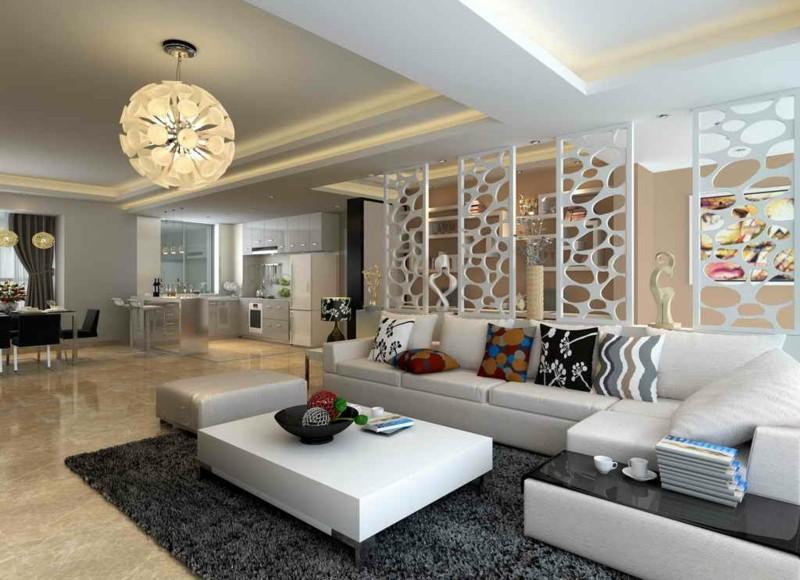 Paneele Weiß Wohnzimmer Einzigartig On Mit Wohnung Auf Plus Einrichtung 5