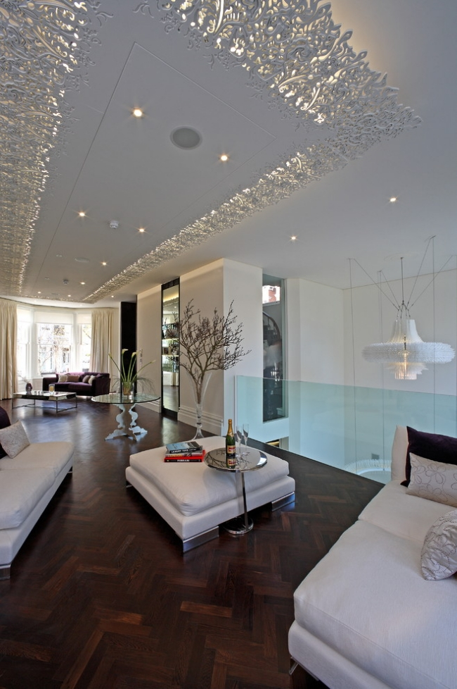 Paneele Weiß Wohnzimmer Exquisit On In Herrenhaus Auf Moderne 1