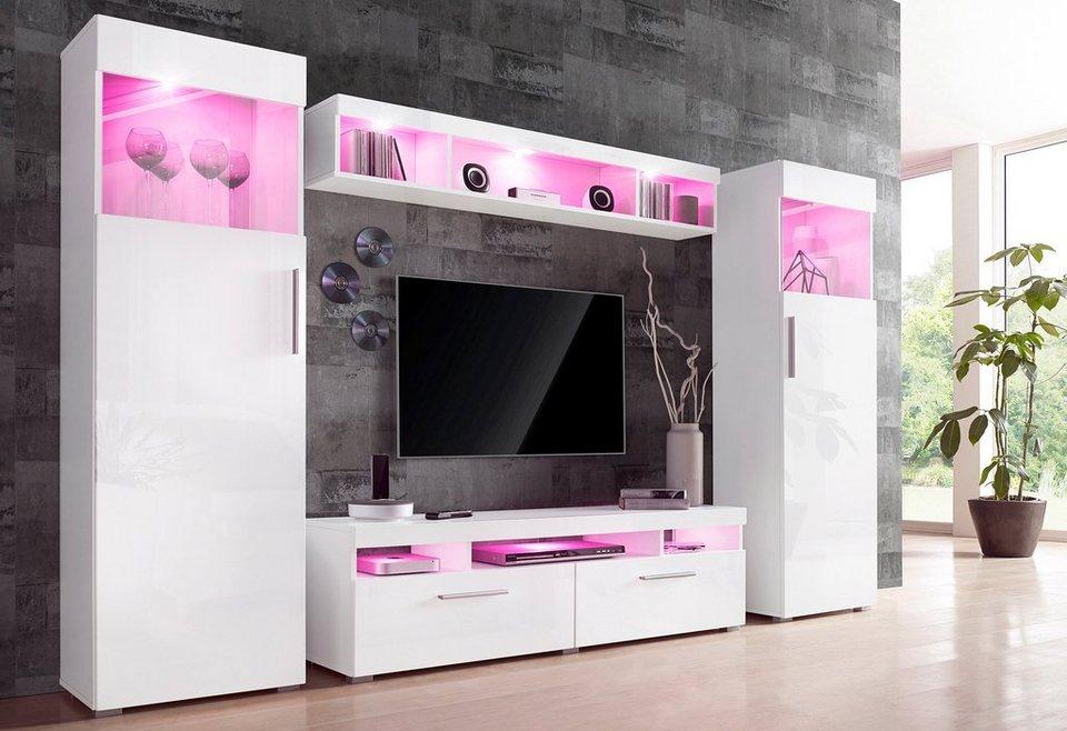 Pinke Wohnwand Perfekt On Andere Mit 4 Tlg Online Kaufen OTTO 8