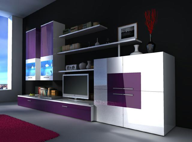 Pinke Wohnwand Schön On Andere Innerhalb Moderne Wohnwände Und Wie Designer Delta Von JV Möbel 4