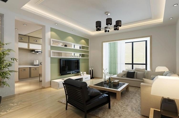 Raumgestaltung Wohnzimmer Kreativ On Beabsichtigt 30 Wohnzimmerwände Ideen Streichen Und Modern Gestalten 1