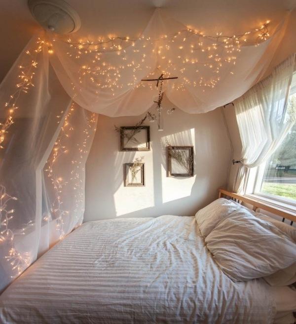 Romantische Schlafzimmer Beleuchtung Charmant On Auf Dekoideen Zum Valentinstag Lichterkette Bettwäsche Romantisch 6