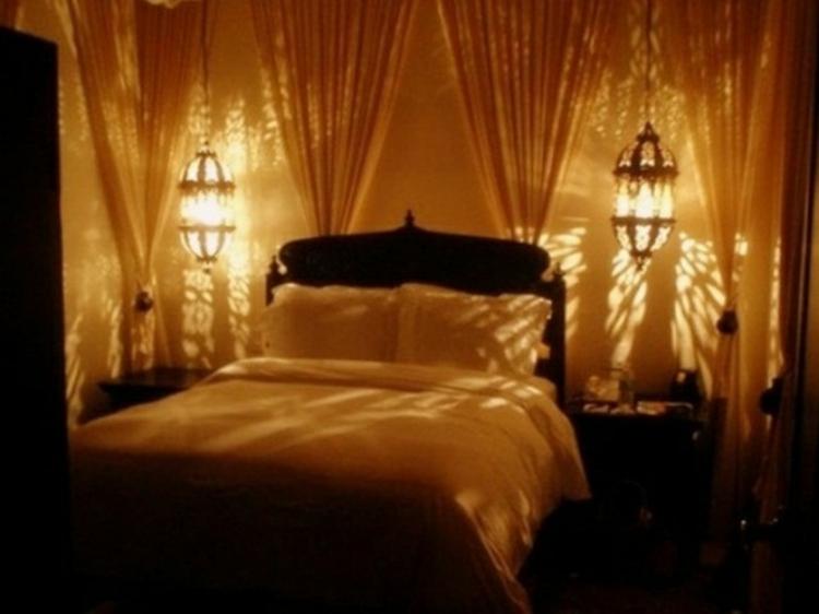 Romantische Schlafzimmer Beleuchtung
