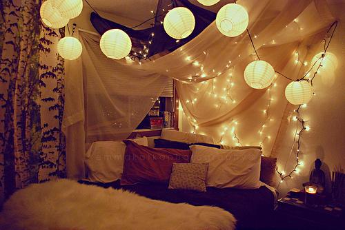 Romantische Schlafzimmer Beleuchtung Imposing On Mit 16 Ideen LED Lichterketten Zum Valentinstag 7