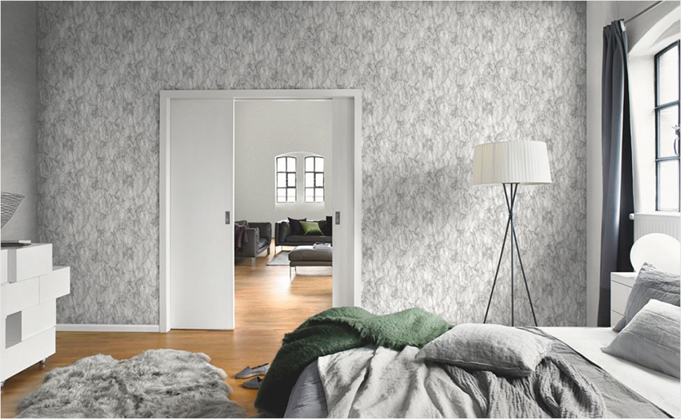 Rosentapete Schlafzimmer