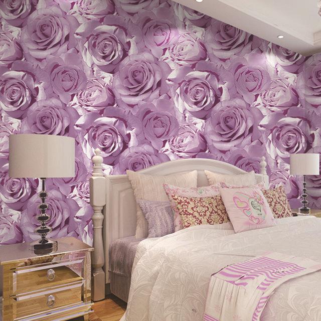 Rosentapete Schlafzimmer Kreativ On Mit Hochwertigen Vliesstoff 3D Rot Rosa Rose Tapete Wohnzimmer 6