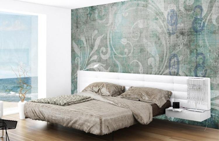 Rosentapete Schlafzimmer Nett On Auf Tapete Schrage Ausgeglichenes Interieur Dekor 9
