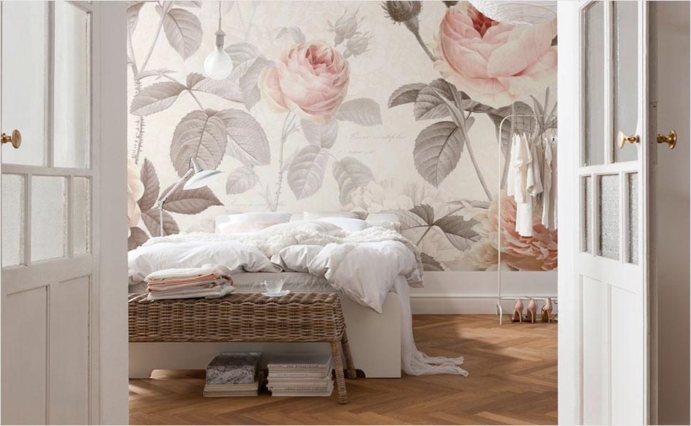Rosentapete Schlafzimmer Zeitgenössisch On überall Tapeten Fürs Bei HORNBACH 4