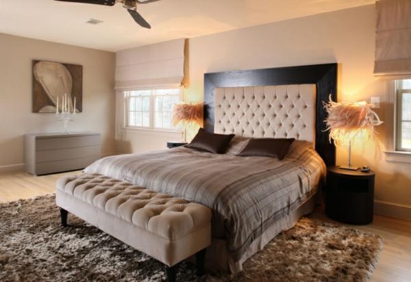 Schlafzimmer Beige Braun Glänzend On Und Deco Wandfarbe Grau Mit Faszinierend Farbgestaltung 7