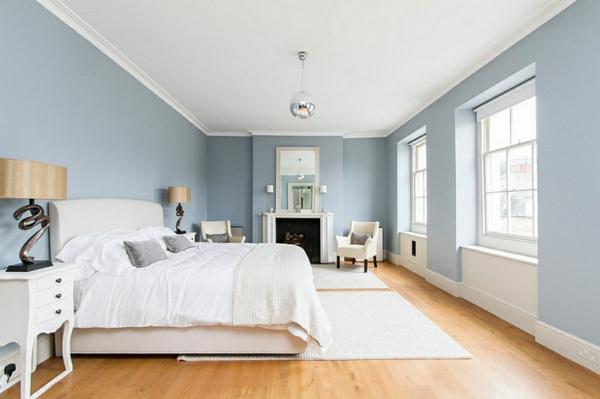 Schlafzimmer Blaugrau Frisch On In Blau Grau Wandfarbe Im 6
