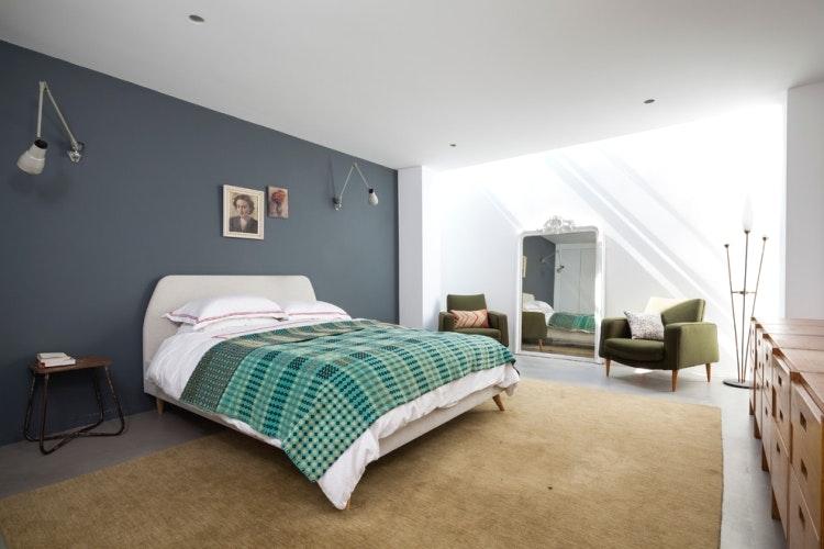 Schlafzimmer Blaugrau Glänzend On Und Verwirrend Grau Beige Wandfarbe Im 77 7