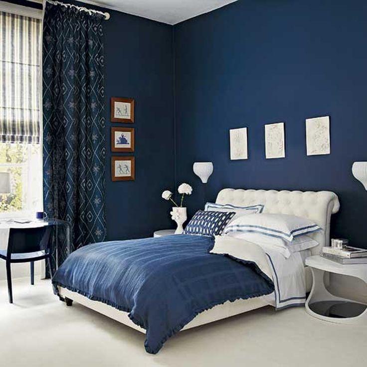 Schlafzimmer Blaugrau Modern On Für Blau Verführerisch Wandfarbe 1